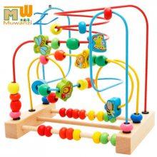 儿童串珠绕珠早教婴儿玩具6-12个月宝宝益智力玩具0-1-2-3岁0.68