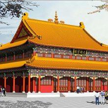 2019古建施工 寺庙修缮 仿古牌坊 仿古大门 仿古走廊