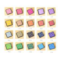 韩国文具  新款20色小印泥 彩色方形印泥  17863