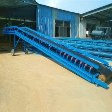 红砖厂装车皮带输送机 包料装车用移动式皮带机 15米长传送带价格