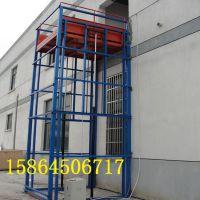山东淄博定做导轨式液压升降货梯平台/聊城固定式物料提举升机的厂家 大壮升降机械