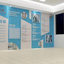 常州产品展厅设计 公司发展历程墙制作安装 展览布置