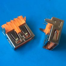 180度 A型母头_昌亿达焊线双层USB 2.0母头_直边贴片SMT