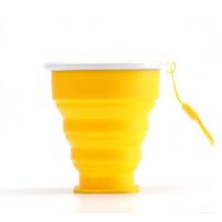 户外便携可折叠水杯 多功能创意水杯 硅胶便携式折叠 生活日用硅胶折叠杯