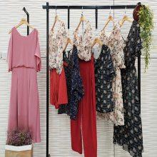 亨奴女装线下品牌折扣店的货源天津品牌折扣女装尾货批发价格表欧美蕾丝蕾丝衫