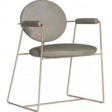 美式餐椅实木布艺软包餐椅书房客厅酒店椅咖啡厅椅子轻奢实木餐椅