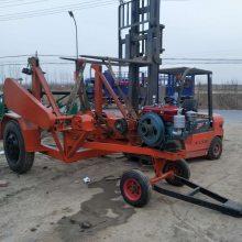 加固型放线车10吨 小型线缆盘放线车 自动放线拖车 满发聚直销