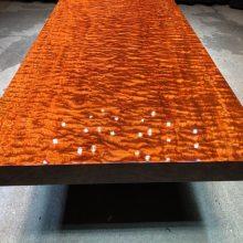巴花实木大板桌原木茶桌茶台花梨木书桌新中式办公桌