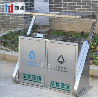 现货户外不锈钢垃圾桶 不锈钢果皮箱 钢制垃圾桶 福建润德厂家直供