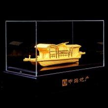 中金电铸绒沙金船模型摆件 工艺礼品摆件订做 各类模型来图制作免费设计logo 纯金银工艺品金属定制厂