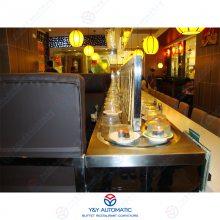 广州昱洋餐厅回转输送机设备_回转寿司旋转火锅设备生产厂家