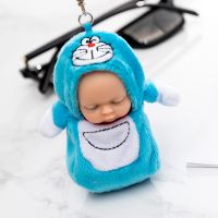 DY-142呆萌睡眠娃娃钥匙扣卡通包包钥匙链圈毛绒玩具学生小礼品