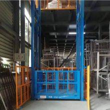 济南仓库车间载货升降平台 电动液压升降机 超市安装固定导轨式升降机 航天制造值得信赖