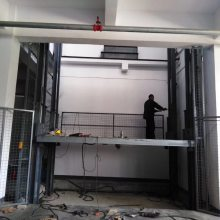 湖南大吨位固定导轨式汽车升降平台 升降货梯 举升机