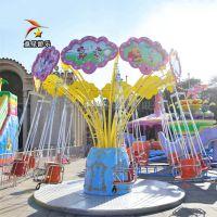 小巧时尚的外观童星游乐迷你飞椅景区庙会儿童游乐设备