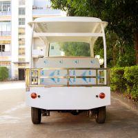安步优品ABLQF090白色承载约600公斤五座场内平板四轮电动货车电动工程车场内搬运车电动运输车