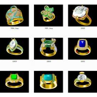 设计999纯银钛磁能戒指 戒指项链 —石英首饰生产厂家