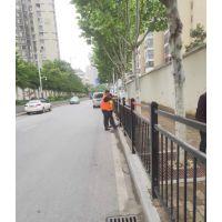 安徽合肥武汉黑色三横杆边缘人行道护栏草坪护栏景观河道定制护栏