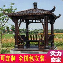 杭州古建牌坊门楼 绍兴景区长廊定做 温州别墅亭子廊架
