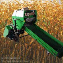 全自动缠绕包膜打捆机 草捆压缩不占地方的包膜机