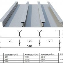 南京1.2厚镀锌压型钢板YXB65-170-510型闭口楼承板生产厂家