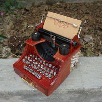 2021八音琴打字机 复古打字机音乐盒 上链浪漫音乐八音盒带抽屉
