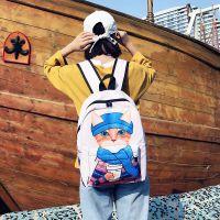 直销新品书包女 日系韩版原创卡通猫咪可爱少女双肩包 学院风背包