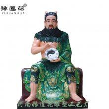【三皇爷yabo官网】寺庙供奉摆件彩绘三皇爷神像图片河南供应雕塑厂