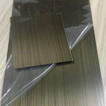 304拉丝不锈钢仿古铜不锈钢蚀刻红古铜青古铜彩色不锈钢