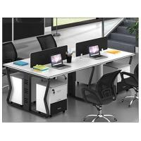 南昌职员办公桌定制简约现代4人位办公家具屏风工作位电脑办公桌椅厂家定做