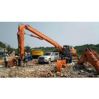 日立490挖掘机改装打桩机振动锤加长臂