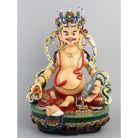 藏教密宗五路财神,和合二仙树脂玻璃钢彩绘贴金河南亚博里面的AG真人厂直销