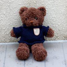 厂家直销 25-30cm毛绒泰迪熊 站款卷毛毛衣熊 三色可选