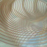 PU管聚氨酯钢丝软管吸木屑钢丝伸缩增强软管透明增强管宁津丰运管业