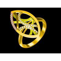 纯铜镶嵌红水晶男款戒指定制 灵魂之光戒指 —粉晶饰品加工厂家
