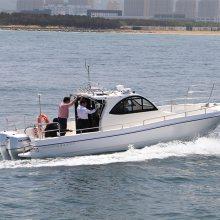 玻璃钢游艇专业钓鱼艇优点29尺钓鱼艇厂家