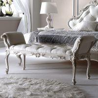 上海齐居置家美式复古床尾凳实木卧室布艺床塌欧式床前凳子主卧床头凳