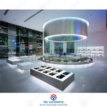 转盘式不锈钢多角度热销商品回转动态展示台设备