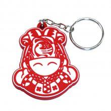 陕西旅游纪念品钥匙扣定制文创产品卡通PVC钥匙扣中国风创意礼品