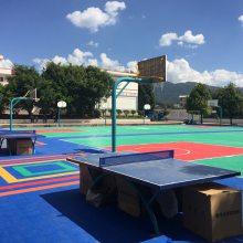 云南金牛体育 厂家直销 运动浮悬地板 篮球场悬浮地板 幼儿园悬浮地板