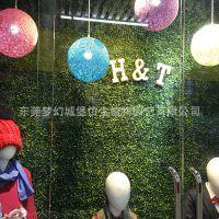 广州厂家定做橱窗装饰草皮墙 室内商场仿真植物墙 招牌logo背景墙