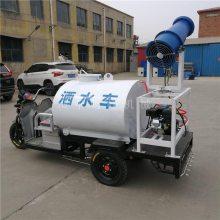施工建设电动三轮洒水车 工地除尘小型雾炮车