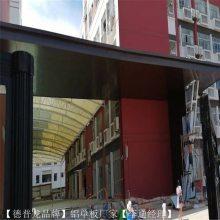 外墙立面门头铝板新型装饰材料_德普龙氟碳造型门头铝板厂家