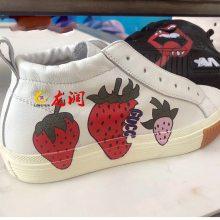 广州鞋子高落差平板打印机设备 皮革片材uv打印机