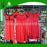 Gracer外贸出口非洲薄款仿真丝性感吊带欧美家居二手丝绸睡衣睡裙