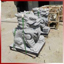 花岗岩石雕麒麟摆件 门口镇宅辟邪神兽一对 惠安石雕厂供应