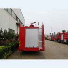 采用重汽ZZ5347V4647E1底盘改装而成的howo16吨水罐消防车价格及性能优势