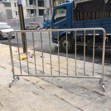 郑州不锈钢铁马现货 活动护栏订做 临时围挡 施工护栏价格