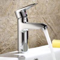 士达王卫浴 铜面盆龙头 冷热水龙头洗手盆水龙头 单孔单把水龙头