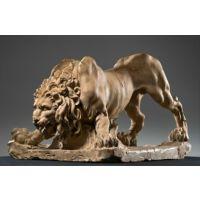 玻璃钢雄狮办公室雕塑 办公桌树脂雕刻摆件